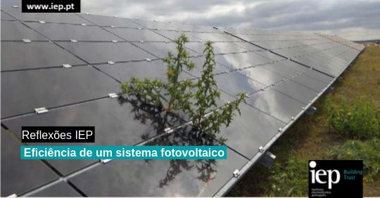 Eficiência de um sistema fotovoltaico