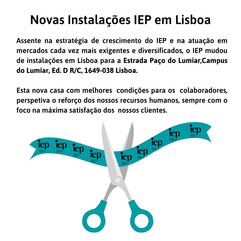 Novas Instalações IEP em Lisboa