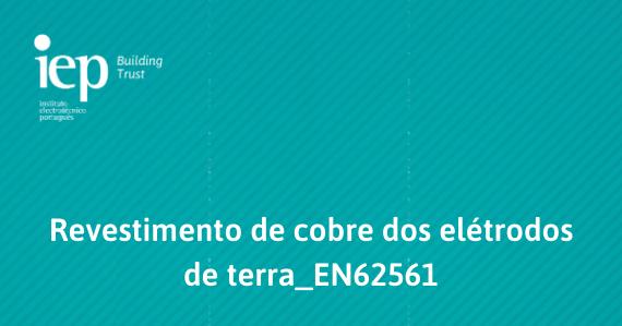 Revestimento de cobre dos elétrodos de terra EN62561